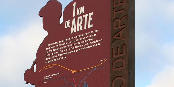 Kilometro del arte signs